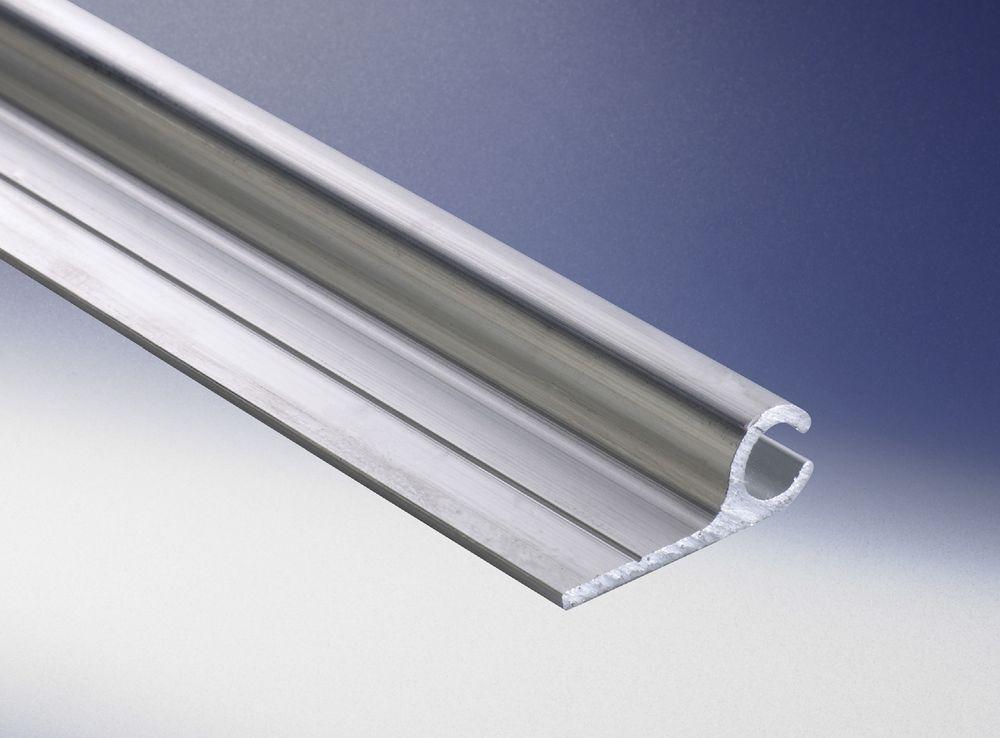 Alu-Kederschiene 9 x 25 mm, Einkanal, für 5,5 mm Keder, L: 6 m