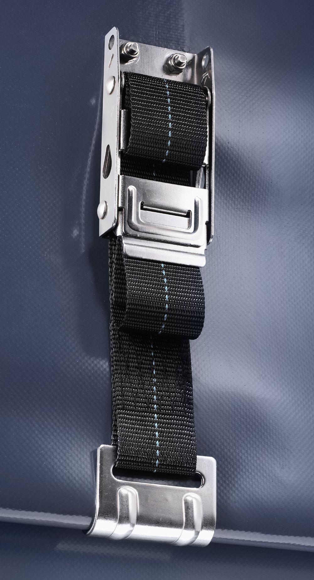 Kippsicherheits-Spanner m. Bremse, Nirosta, Haken: M42 Nirosta, Gurt: Polyester 65 cm