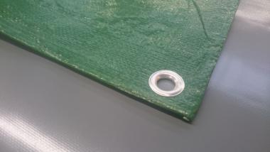 PE-Plane 150 g/qm - grün + weiss Standardgröße