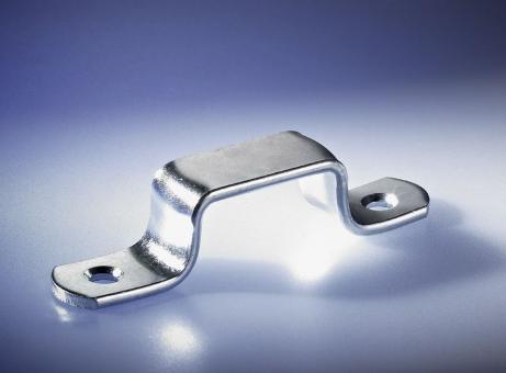 Flachkrampen, A: 57 mm, H: 18 mm, verzinkt