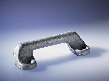 Türhaltekrampen, A: 53 mm, H: 16 mm, feürverzinkt