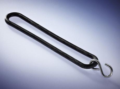 Gummi-Spannringe, EPDM, L: 200 mm, schwarz, m. S-Haken 04.6242.01