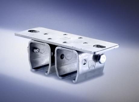 Deckenbefestigungs-Doppel-Muffen, verzinkt, Profil 300