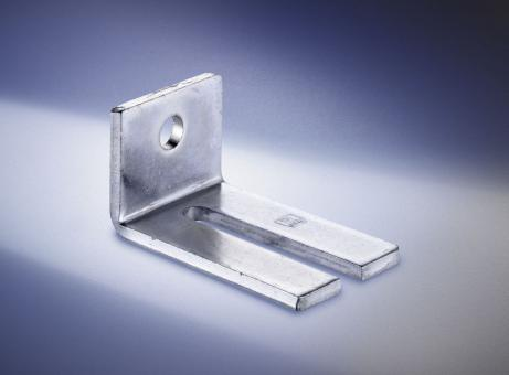(Doppel-) Wandwinkel, verzinkt, Profil 100, verwendbar für 1-2 höhenverstellbare Muffenn