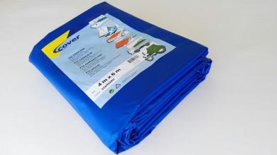 PVC-Plane 600g/qm Standardgröße- blau - SONDERPOSTEN
