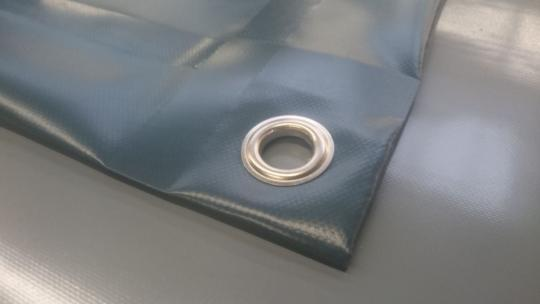 PVC-Plane 600g/qm - Farbe achatgrau RAL 7038 - auf Maß gefertigt