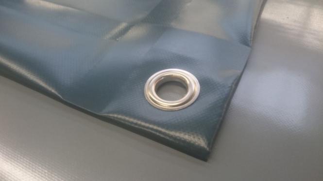 PVC-Plane 600g/qm Standardgröße - Farbe lichtgrau RAL 7035 - -grau-